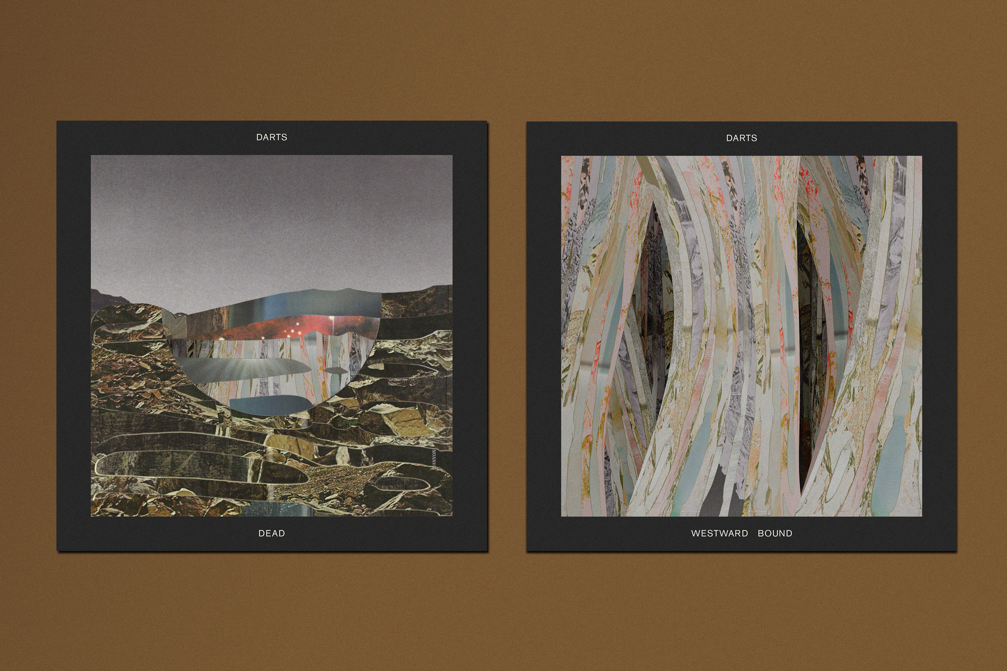 Darts - 'Dead' & 'Westward Bound' single covers.