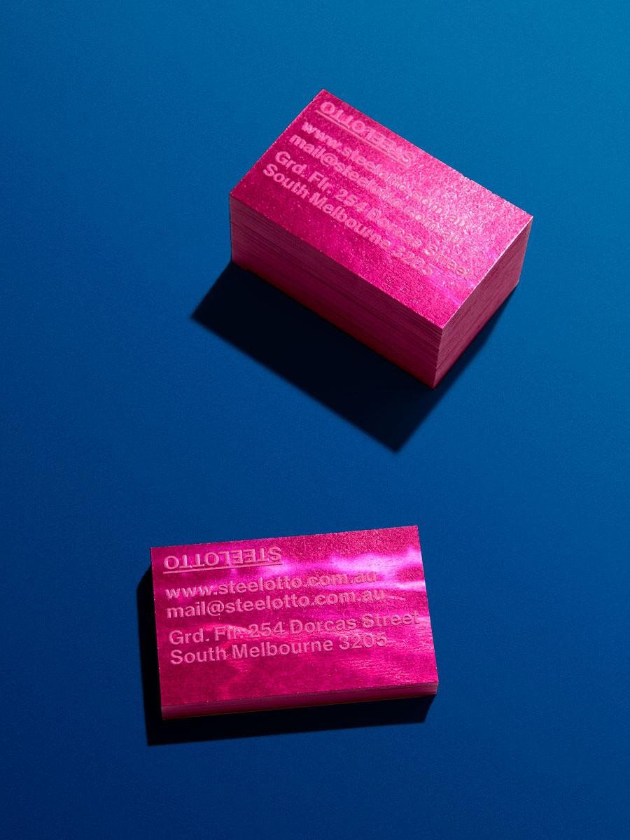 Steelotto Business Cards Fuschia